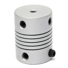 3x6.35mm Aluminum Motor Jaw Shaft Coupler 3mm To 6.35mm Flexible Coupling OD 19x25mm 3D Printer Router Connector
