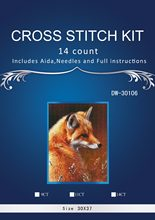 Top Quality Lovely Hot Sell Counted Cross Stitch Kit Old World Holiday yellow fox dim 08813 DW-30106(China)