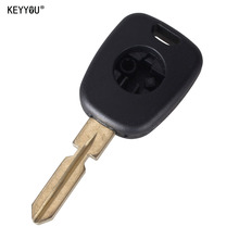 KEYYOU Car Key Cover Replacement Key Case Auto Transponder Key Shell With HU39 Key Blade For Mercedes For Benz with logo