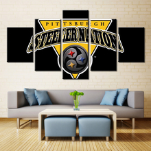 3D Sport Logo American Football Cap Pittsburgh Steelers No Frame Oil Painting on Canvas for Home Decorations Wall Art Football