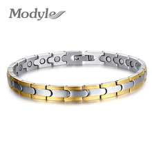 Modyle Gold-Color Fashion Bracelet Jewelry Energy Health Magnetic Bracelets for Man and Women Balance Bracelets