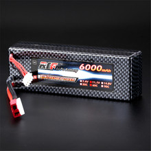 High Quality Reachargeable Lipo Battery Giant Power 11.1V 6000mAh 3S 65C Lipo Battery T Plug Hardcase Pack For RC Model