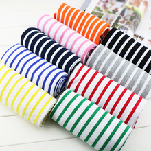 50*170cm stretchy striped cotton fabric lycra cotton knitted jersey fabric DIY sewing T-shirts dress fabric by half meter
