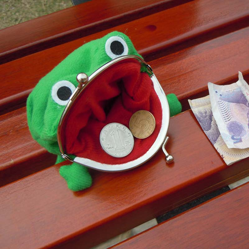 Coshome Naruto Bags Frog Wallet Mummy Bags Green Wallet Coin Purse Women Flannel Wallet (3)