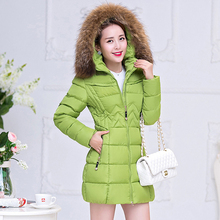 New Arrival Women Coats Fur Hooded Thick Warm Winter Jacket  Cotton Padded Slim Ladies Winter Coat Long Down Parka Manteau Femme