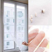 Summer DIY Insect Fly Bug Mosquito Door Window Net Mesh Screen Protector Windows Net Curtain Flyscreen Home Decoration QW602668(China)