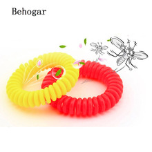 Behogar 5 /10 Pcs Mosquito Repellent Wristband Natural Insect Protection Pest Control Bracelet Bands for Elderly Adults Kids(China)