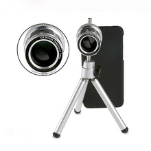 2017 New Arrival Hot Sale Brand With Tripod Holder 12 X Zoom Telescope Camera Lens for for iPhone 6 4.7 Inch optical glass(China)