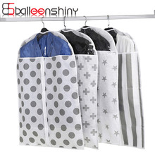Folding Storage Bag Case For Clothes Garment Suit Coat Dust Cover Protector Wardrobe Hanging Pouch Closet Organizer Holder