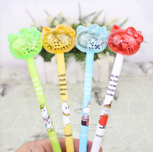 4Pcs/set Kawaii 0.38mm Hello Kitty Gel Pen with dice Stationery School Supplies Student Gift black ink cat gel pen Rewarding