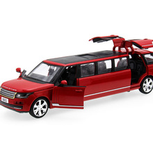 2017 New Hot sell 1:32 Mini Limousine Diecast Alloy Metal Luxury Car Model Collection Model Pull Back Toys Car Gift For Boy(China)