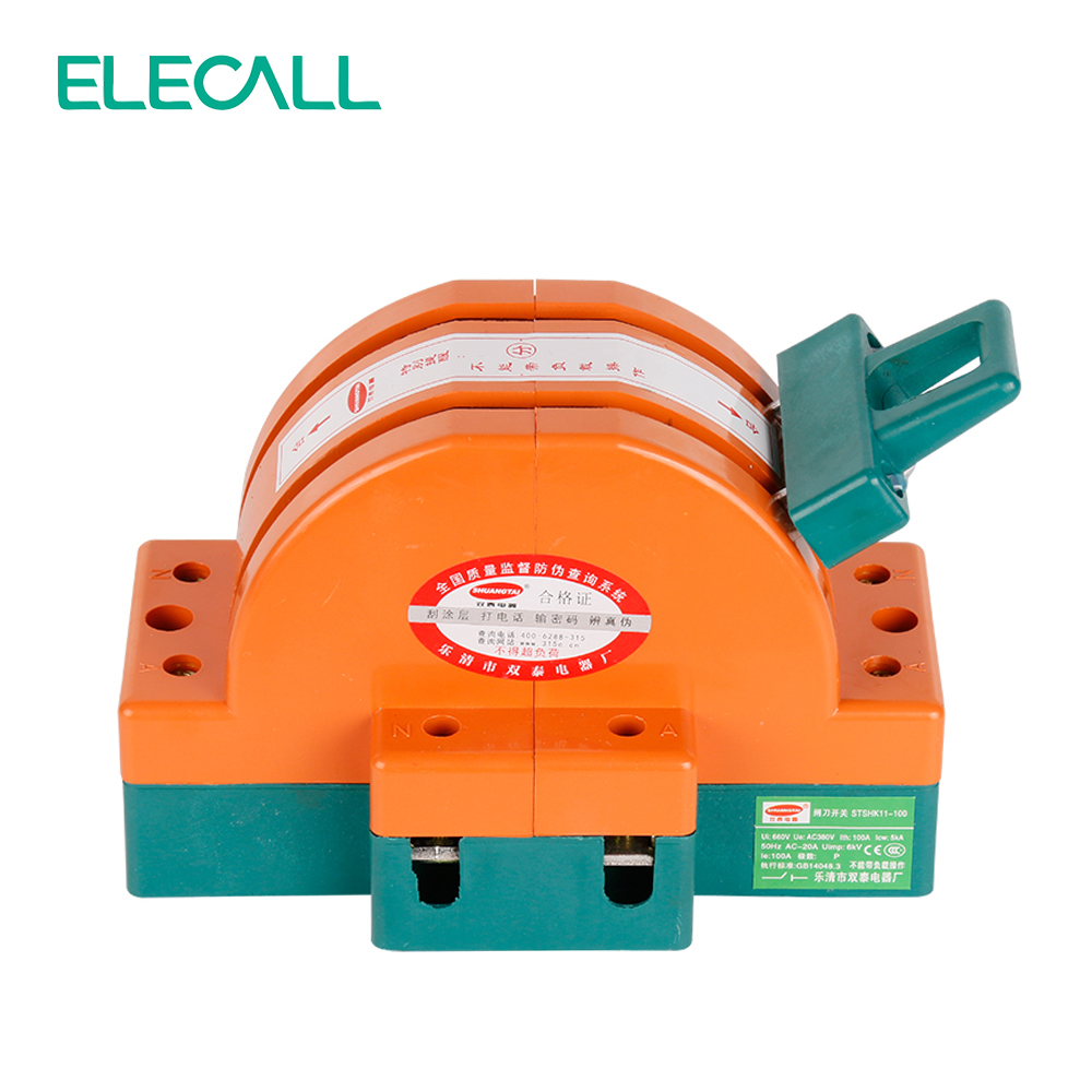 Wholesale  Heavy Duty  100A Two Poles Double Throw Knife Disconnect Switch Delivered Safety Knife Blade Switches<br>