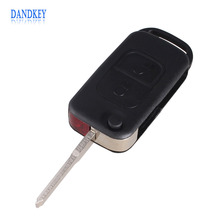 Dandkey Flip Folding car Shell Remote Key Fob Case 2 Button For Mercedes Benz E113 A C E S W168 W202 W203(China)
