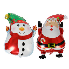 APRICOT 1pcs Christmas snowman & Santa Claus Balloons New Foil Balloons Aluminium Foil Balloon Party Supplies