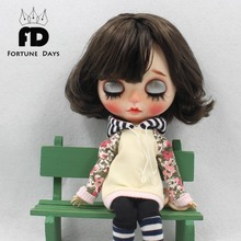 free shipping fashion suit sweater with hat flower clothes with shoes for blyth doll for 1/6 30cm bjd neo(China)