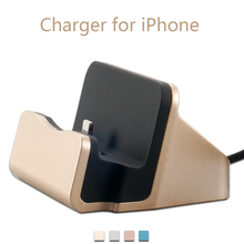 CHUNFA Desktop Charger for iPhone 6 6S Plus for iPod Dock Station Phone USB Sync Adapter Charging Device Stand Docking Holder(China)