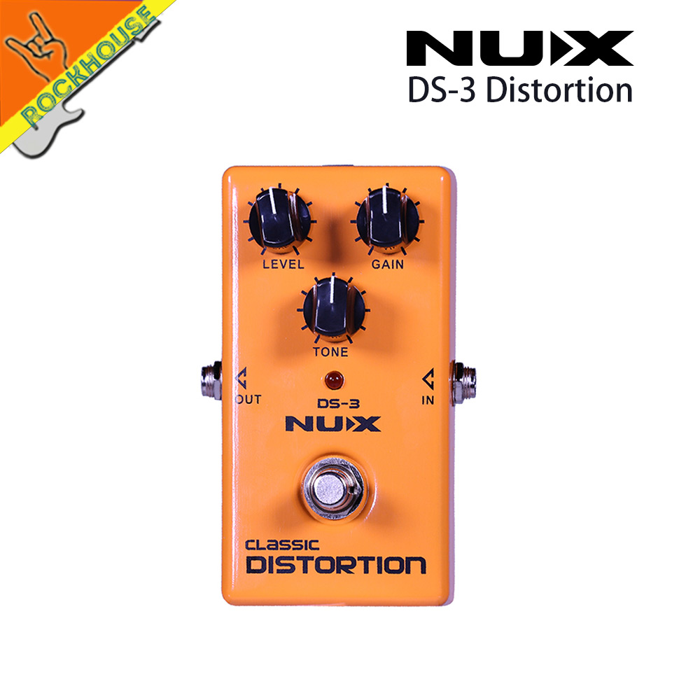 NUX DS-3 British Distortion Pedal Analog Guitar Tube distortion effects pedal Crunch distortion Brown Sound Free shipping<br>