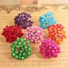 12mm Artificial Flower Heads Stamens berry for Birthday Wedding Party favor home Cards Cakes Floral Decoration DIY craft(China)