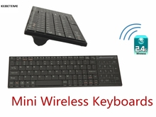 KEBETEME Mini 2.4Ghz Wireless Keyboards Bluetooth USB Ultra slim Built-in Touchpad Support Windows/ iOS/ Android / Linux