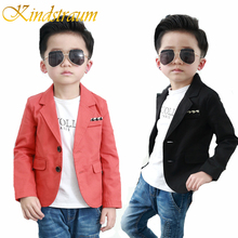 Kindstraum 2017 New Kids Boys Blazer Cotton Wedding Formal Blazer Casual Children Solid Brand Party Outwear Boys Jacket, MC723