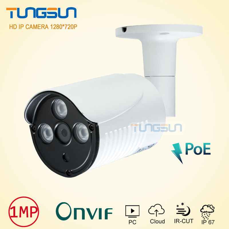 New IP Camera 720P 960P POE Security Home Surveillance CCTV IR Array LED Bullet Metal Waterproof Outdoor Onvfi WebCam Network<br>