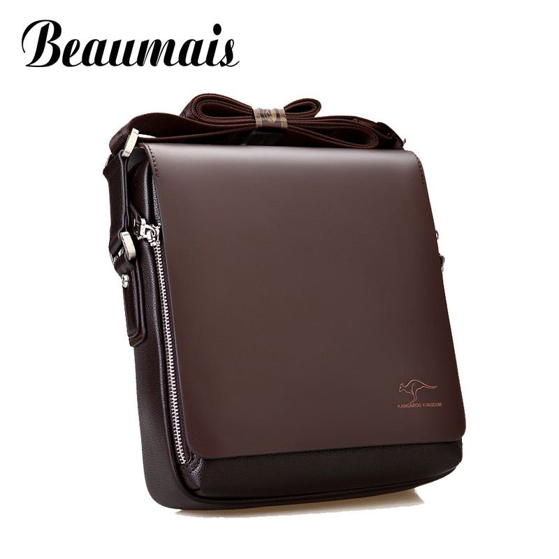 Beaumais 2017 New arrived pu leather mens shoulder bags Fashion bussiness men messenger bag Casual mens travel bags BN006-1<br><br>Aliexpress