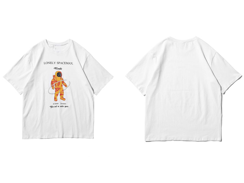 Lonely Spaceman Print Tee Shirts 2
