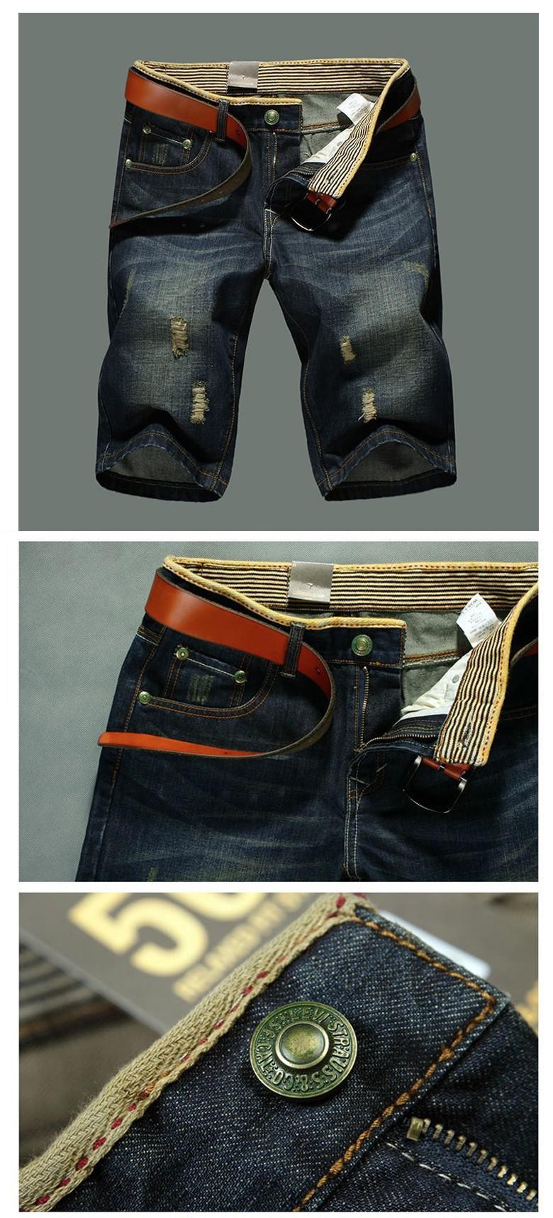 2017 Men Shorts Plus Size 38 New Brand Summer Men Jeans Shorts Fashion Designers Shorts Cotton Jeans Men\`s Slim Jeans Shorts3