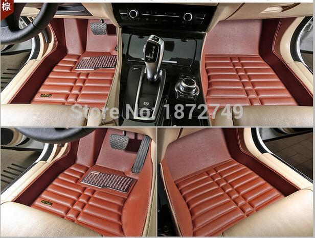Car floor mats black grey brown coffee Non-slip waterproof 3D car floor Carpets for nissan QASHQAI brand leather Wear-resisting <br><br>Aliexpress