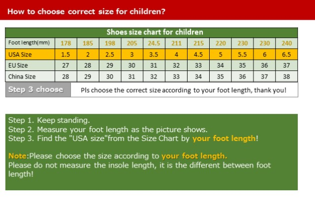 shoes chart for children-3