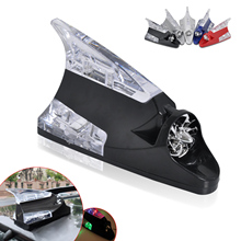 DWCX Car Auto Red Wind Power LED Light Shark Fin Antenna Warning Flash Lamp Decoration for VW Audi Toyota YARIS Audi A4 A8 BMW