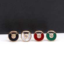 Top Quality black red green White Acrylic small gap Stud Earrings For Women/Men Piercing Jewelry, fashion tenis feminino bijoux