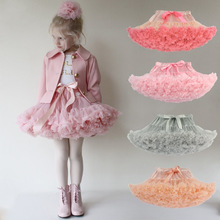 Drop shipping Baby Girls 투투 Skirt 솜 털 Children 발레 Kids Pettiskirt Baby Girl Skirts 공주 튈 자 춤 Skirts(China)