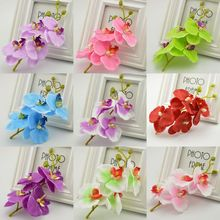 1pcs Artificial Flowers Moth Orchid Butterfly Orchid for new House Home Wedding Festival Decoration fake simulation flower(China)