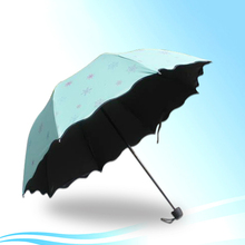 Sun Umbrella Men Black Windproof Small Beach For Sunny Guarda Pluie UV Rain Automatic Folding Umbrella Women Femal DDG58(China)