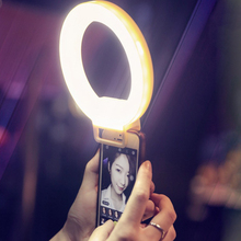 USB Rechargeable battery selfie light Led Camera Phone Photography Ring Light Enhancing Photography for iPhone Samsung