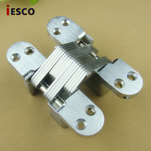 Cross hinge concealed door hinge screen concealed hinge cabinet dark hinge 116mm heavy four hole