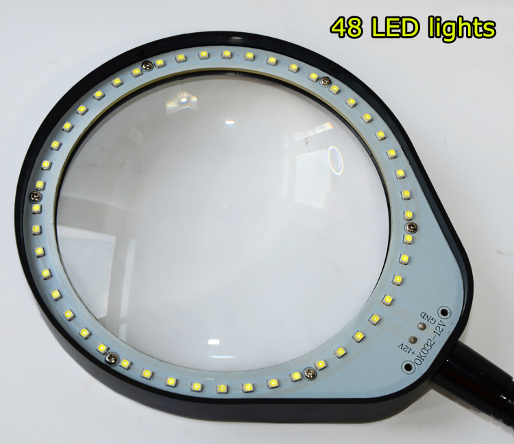 Multi-functional Welding LED Magnifier 8X10X magnifying glass Desktop Magnifying Glass With Led Lights (9)