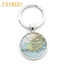 TAFREE South Africa Map Keychain a united undivided wanted key chain a lot of animal parks beautiful Occult special jewelry H570