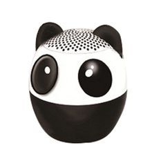 2016 New Universal Cute Panda Shape USB Portable Mini Stereo Speaker for Desktop Laptop Notebook Cellphone High Quality