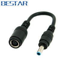 DC 7.9*5.4mm Lenovo Ultra slim DC laptop audio power Jack to HP Dell 4.5*3.0mm Plug adapter connector Cable 20cm For Laptop