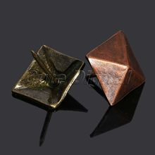50Pcs Decorative tachas Upholstery Tacks Bronze Antique Square Upholstery Nail Studs Leather Furniture DIY Tools Home Decoration