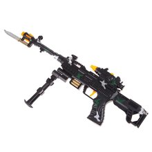 NEW TOY KIDS MILITARY ASSAULT MACHINE GUNS WITH SOUND FLASHING LIGHTS GIFT(China)