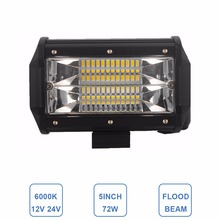 Offroad 5INCH 72W LED WORK LIGHT BAR FLOOD LIGHT 12V 24V CAR TRUCK SUV BOAT ATV 4X4 4WD TRAILER WAGON PICKUP DRIVING LED LAMP(China)