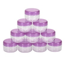 10 Pcs Purple Pot Eye shadow Makeup Face Cream Container Bottle Cosmetic Empty Jar