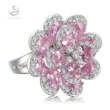 Rave reviews Rings Pink Cubic Zirconia Silver Plated Trendy jewelry Best Sellers The new listing Berserk MKY549GNO sz# 6 7 8 9