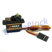 EMAX ES08A II /ES08MA II 8.6g /12g Plastic /Metal Gear Micro Servo for RC Helicopter Airplane fixed wing fly wing(China)
