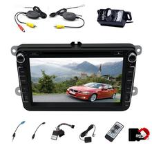 2016 Hot Sale Car Unit for Volkswagen 8'' HD Car DVD Player GPS Navigation Electronics Autoradio 2 din Bluetooth Car Stereo(China)