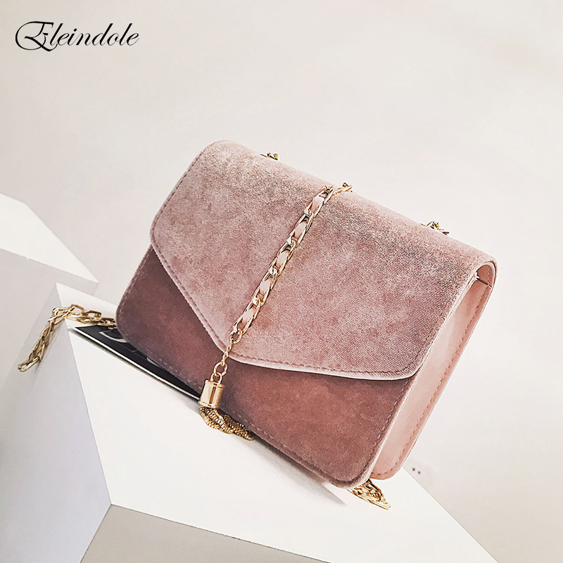 Eleindole New Women Handbags Tassel Leisure Chain Flap Ladies Shoulder Bag Lady Style Cover Fashion Design Female Messenger Bag<br>