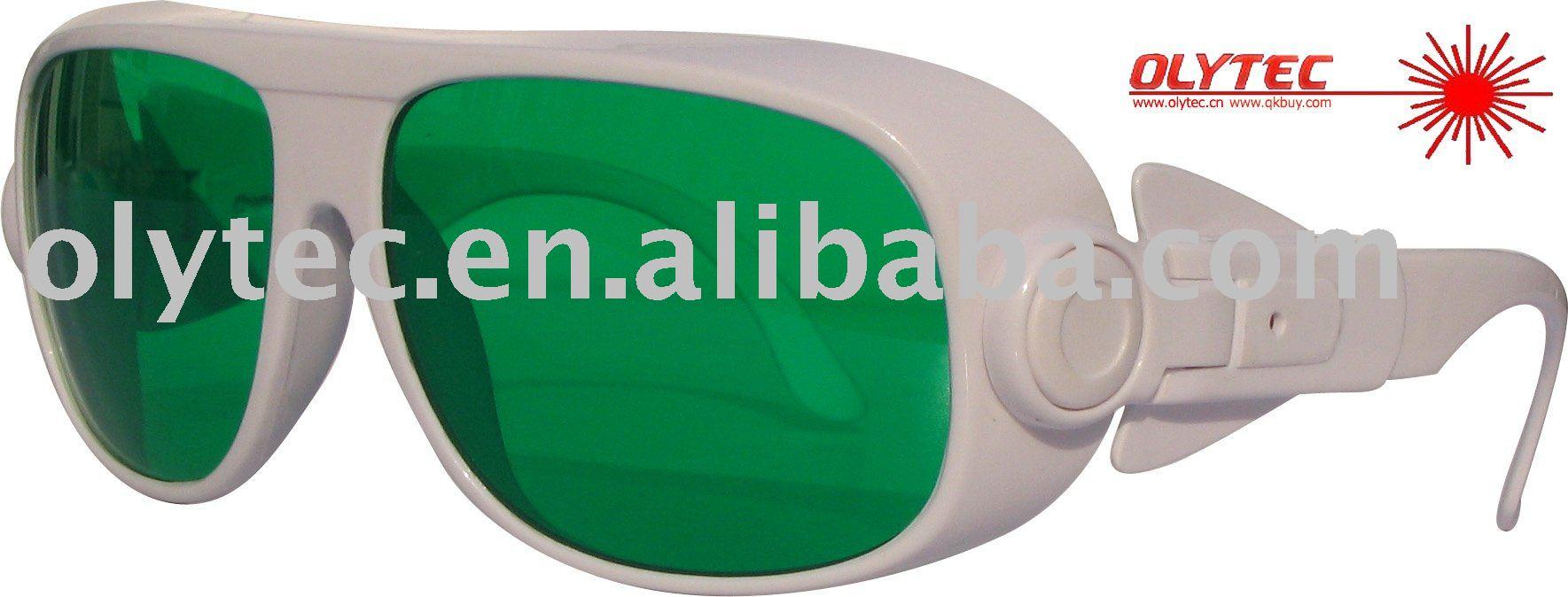OLY-LSG-13 190-470nm &amp; 610-760nm  laser safety glasses ,CE, O.D 4+ Good V.L.T %<br>